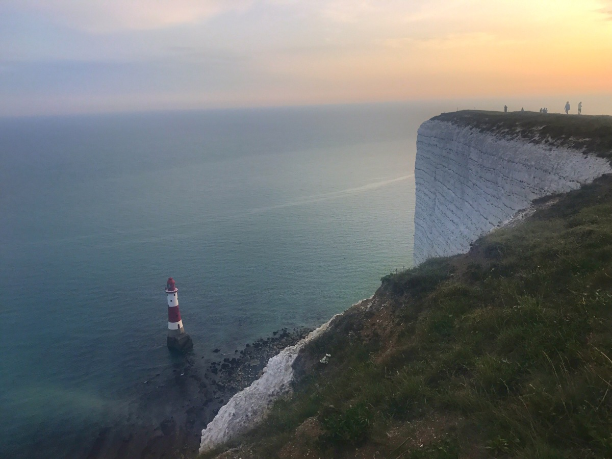 White cliffs of Dover and Eastbourne